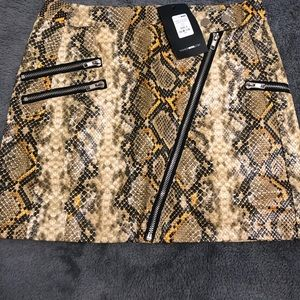 Yellow snake print skirt from fn new size small
